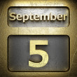 September 5 golden sign — Foto de stock #23199110