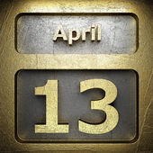 April 13 golden sign — Foto Stock