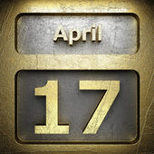 April 17 golden sign — Stock Photo