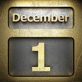 December 1 golden sign — Stock Photo
