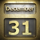 December 31 golden sign — Stock Photo
