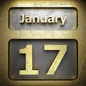 January 17 golden sign — Stock Photo