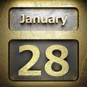 January 28 golden sign — Stock Photo