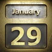 January 29 golden sign — Stock Photo
