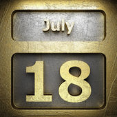 July 18 golden sign — Stock Photo