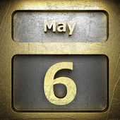 May 6 golden sign — Stock Photo