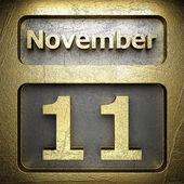 November 11 golden sign — Stock Photo
