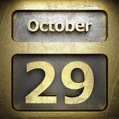 October 29 golden sign — Stock Photo