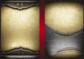 Altın ve gümüş vektör arka plan ayarlamak — Stok Vektör