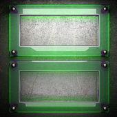 Glass on metal wall — Stock Photo