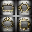 Royalty-Free Stock Photo: Vector golden frames set
