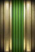 Gold on green background — Photo