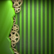 Stock Photo: Gear wheels on green background