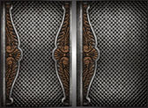 Vector metal background set — 图库矢量图片