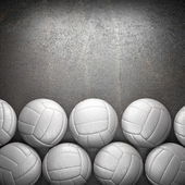 Volleyball ball and metal wall background — Stock Photo