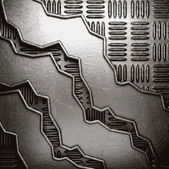 Металл на фоне стены — Cтоковый вектор