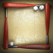 Baseball and golden wall background — Zdjęcie stockowe