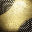 Golden and silver background — Vettoriali Stock