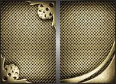 Vector golden background set — Stock Vector