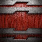 Metall und Holz-Hintergrund — Stockvektor
