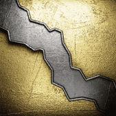 黄金と銀の背景 — Stock vektor