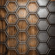 Metal and wood background — Imagen vectorial