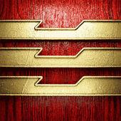Gouden en hout achtergrond — Stockvector