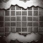 Metallo sullo sfondo della parete — Vettoriale Stock