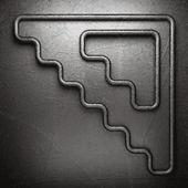 Metal on wall background — Stockvektor