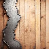 Kovové a dřevěné pozadí — Stock vektor