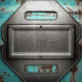 Eski metal arka plan — Stok Vektör