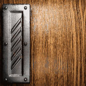 Sfondo in metallo e legno — Vettoriale Stock