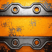 Old metal background — Stock Vector