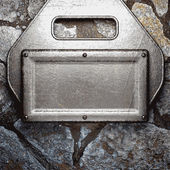 Metal and stone background — Stock vektor