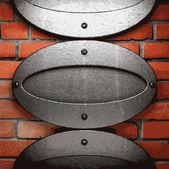 Metal and brick background — Vector de stock