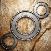 Sfondo di pietra e metallo — Vettoriale Stock