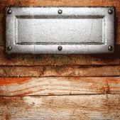 Tło metalu i drewna — Wektor stockowy