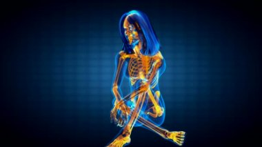 Cute woman radiography — Stock Video