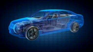 Transparent car concept — Stock Video