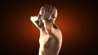 Human radiography scan — Stock Video
