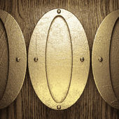 Gold and wood background — Vetorial Stock