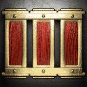 Gouden en zilveren achtergrond — Stockvector