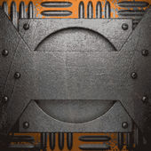 Oude metalen achtergrond — Stockvector