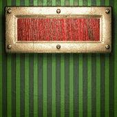золото на зеленом фоне — Cтоковый вектор