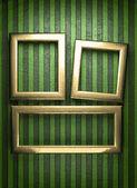 Yeşil zemin üzerine altın — Stok Vektör