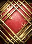 金子在红色背景 — 图库矢量图片
