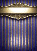 Oro sobre fondo azul — Vector de stock
