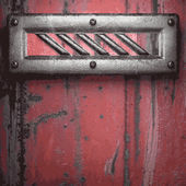 Alte metall-hintergrund — Stockvektor