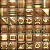 Gold and wood background set — Stock Photo