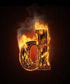 Burning figure — Stock Photo